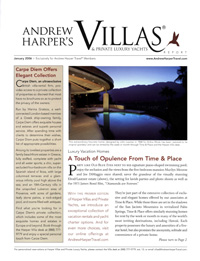 Villas & Private Luxury Yachts  - January 2006
